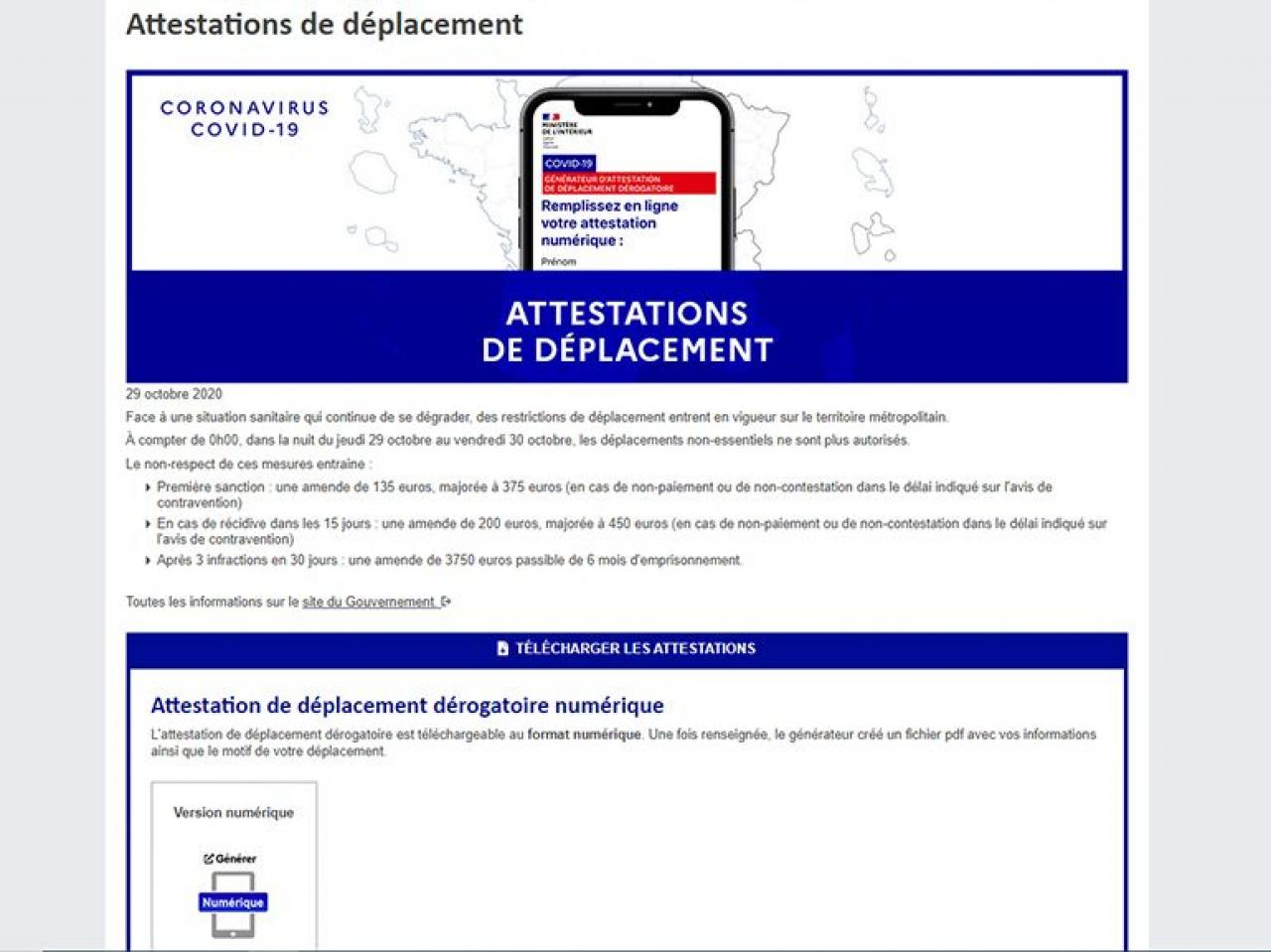 AUTORISATION DE DEPLACEMENT COVID 19